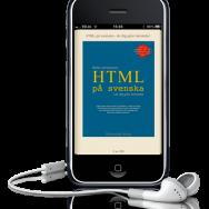HTML på svenska som e-bok i iPhone